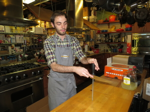 Chris at Cook's Warehouse sharpens chef knives for $5!