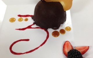 Chocolate Mouse granache cake plating