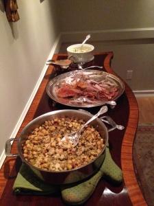 ThanksgivingTurkeySideboard